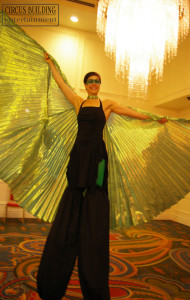 Stilt Walker with Wings
