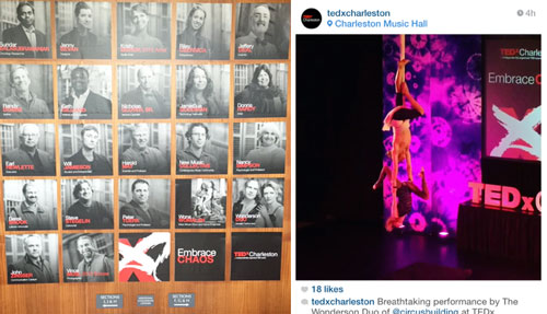 Aerialists at TedX Charleston