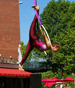 Aerialist on Trapeze Hoop